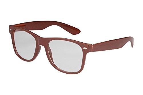 X-CRUZE 1-032 X 03 Nerd Brille ohne Stärke Vintage Retro Style Stil Klarglas Hornbrille Modebrille...