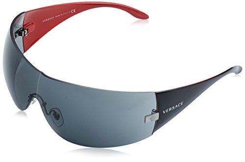 Versace Damen Sonnenbrille VE2054, Gr. One size (Herstellergröße: 41), Schwarz (Gunmetal 100187)
