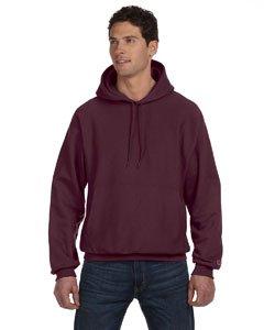 Champion Men's Men' Reverse Weave Fleece Pullover Hoodie, Maroon, Large - Maroon Pullover Hoodie