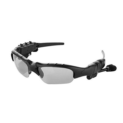 ROKOO Smart Gläser Bluetooth Kopfhörer Sonnenbrille Wireless Stereo für Sport Outdoor, Grau