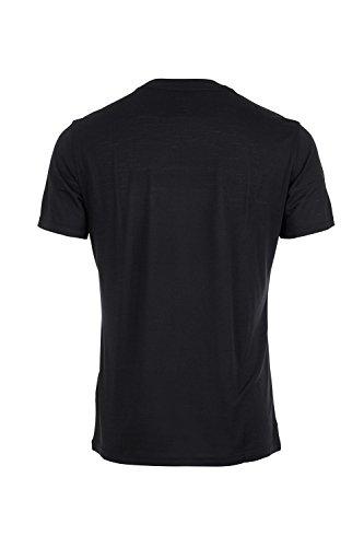 super.natural Herren M Graphic Tee Merino T-Shirt Schwarz (Jet Black/Sketch Logo Print)