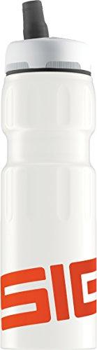Sigg Trinkflasche Nat Sports Touch Trinkflasche, Nat Sports Touch, Weiß/Orange (Aluminium Schweizer-wasser-flasche)