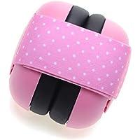 Aisence Orejeras para bebés Orejeras de Seguridad Orejeras de protección auditiva para niños Auriculares con cancelación de Ruido Size 10.5 * 10.5 * 10.5cm (Pink)