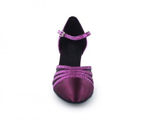 Roxo Senhoras Sapatos Tda 6 Dançando Centímetros De U7qww16