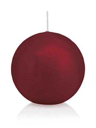 Bougie ronde 12 Ø 70 mm Bordeaux, Brûler temps en heures 16, Bougies pour l'événement, partie, occasion, baptême, mariage, Avent, Noël, décoration