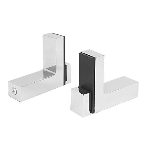 sourcingmap® 2Stk Wand Schrank Metall einstellbare Glas Regal Klemme Cliphilfe Halterung (Einstellbare Regale Schrank)