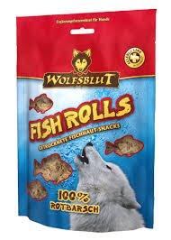 4 x 100g Wolfsblut Fish Rolls - Rotbarsch