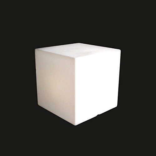 SLIDE - Table basse design lumineuse Cubo 40 cm LED RGB