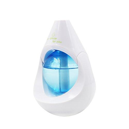 Preisvergleich Produktbild firlar Auto Mute USB Aroma Diffusor Luftbefeuchter – Tragbare LED-128 ml Air Purifying Aromatherapie ätherisches Öl Cool Mist Diffusor Luftbefeuchter für Zuhause,  Büro,  Yoga,  SPA,  Schlafzimmer,  Baby und Hotel blau