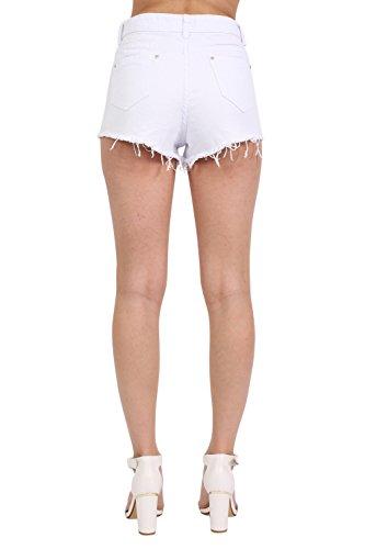 PILOT® short en jean brodé de fleurs Blanc