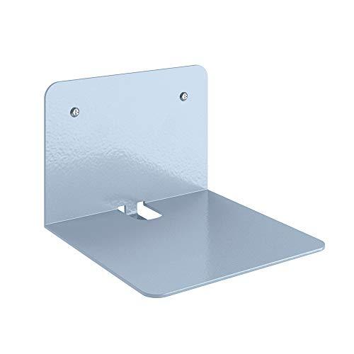 VICCO Unsichtbares Bücherregal Ghost | 4er Set Wandregal aus Metall mit Pulverbeschichtung in der Größe 12,5 x 9 x 12,5 cm (BxHxT) -