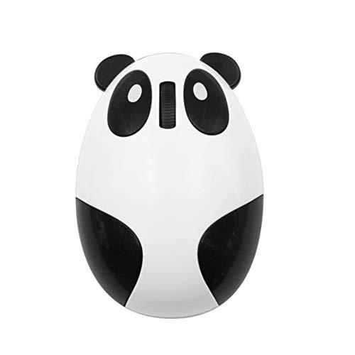 Drahtlose Wiederaufladbare Maus, Niedliche Cartoon Panda Maus 2.4G Stumm Mit USB-Empfänger Tragbare Kompakte Ergonomische Optische Computermaus,White -