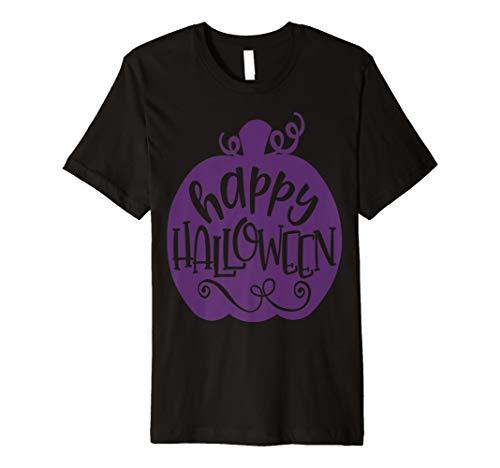Happy Halloween Shirt Süße Girly Lila Kürbis Lehrer -