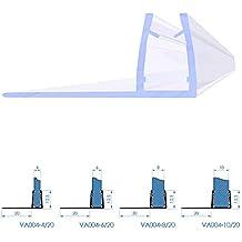 Duschdichtung Duschkabine Wasserabweiser 40 bis 200cm Stärke 6,8,10mm VA008GB