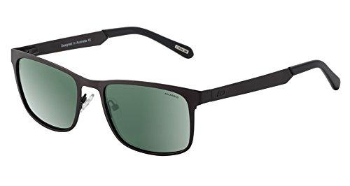 Dirty Dog Hurricane Metall Wayfarer Sonnenbrille In Gunmetal Grau mit Grün Polarisiert Objektiv