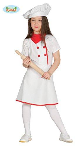Köchin Kostüm für Mädchen Kinderkostüm Bäcker Koch Chefkoch Pizza Gr. 110-152, (Kostüme Pizza Kinder)
