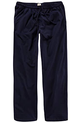 Navy Baumwolle Pyjama (JP 1880 Herren große Größen bis 8XL, Pyjama-Hose aus 100% Baumwolle, Schlafanzug-Hose, Sweatpants mit elastischem Bund Navy L 708406 76-L)
