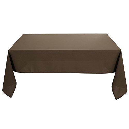 Deconovo Mantel Cuadrado para Mesa 130 x 130 cm Caqui Oscuro