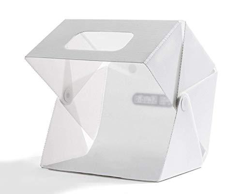 Magnetisches Fotostudio Lichtzelt - SlowBeat 44x41.5cm Fünfeckig Faltbare Fotozelt mit 2X 6400K Beweglich LED Beleuchtung, Tragbare Studio Licht-Box für Professionelle Fotografie, 2X Hintergründe