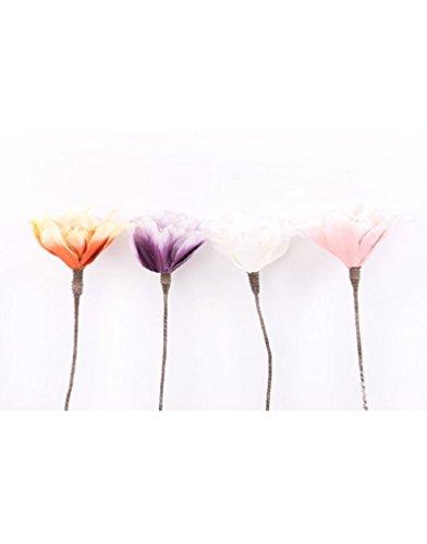 Flor artificial eva acolchada (77 cm). Cuatro colores - Naranja
