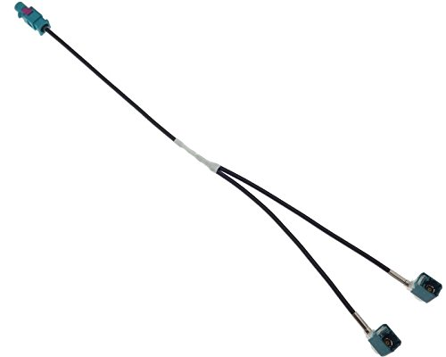 Antenne Adapter Doppel Fakra Stecker Diversity Kabel Antennenstecker kompatibel mit Audi Ford Seat Skoda VAG