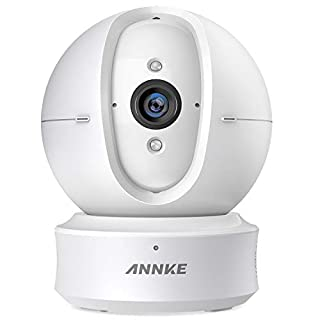 ANNKE IP Camera 1080P HD Nova Orion Pan/Tilt Wifi Wireless Security Camera, Work with Alexa, Google Assistant, Cloud Service Available, 2.4G Wi-Fi Home Security Camera