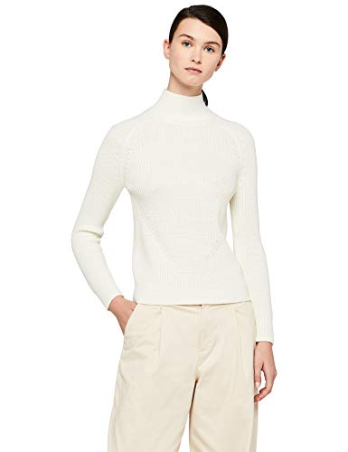 MERAKI Chunky Roll Neck suéter, Marfil Cream, X-Small