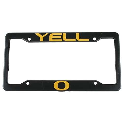 Oregon Ducks Plastic License Plate Frame - Yell-O by Duck House