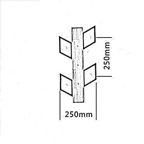 YP Hölzerne Haushalts-Aufhänger, Wand-Aufhänger, hölzerner Baum + Eisen-Blatt-Form-freier Nagel-Wand-Aufhänger Geben Sie Bohrungs-Eintritts-Kleber frei Wand, die nach der Tür hängen, hängen Sie 25 *