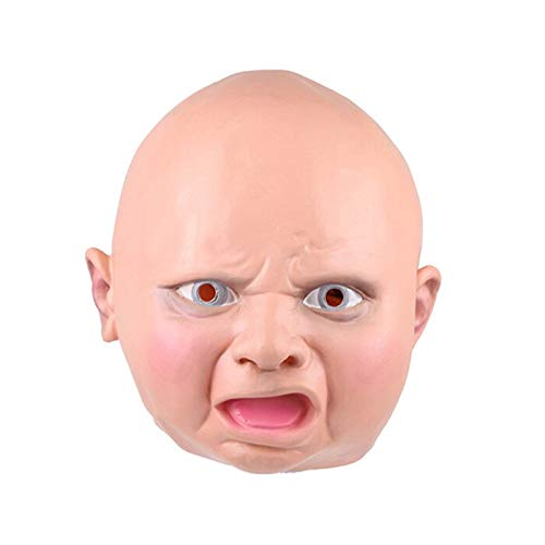 Männliche Weibliche Latex Maske Realistic Full Face Street Funny Disgusted Happy Cry Baby Party Masken Für Halloween Karneval 3 (Maske Happy Baby)