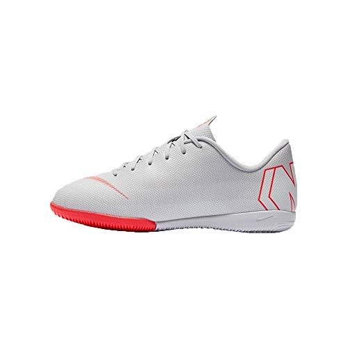 Nike Unisex-Kinder Jr. MercurialX Vapor XII Academy GS IC Fitnessschuhe, Mehrfarbig (Wolf Grey/Lt Crimson/Pure Platinum 060), 36 EU