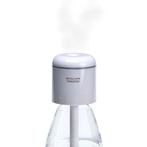 Switchali usb portable de mode mini-capsules de bouteilles d'eau humidificateur machine à brouillard (5*4.5cm, Blanc)