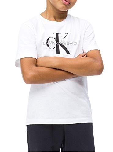 Calvin klein t-shirt monogram white bambino 10 bianco