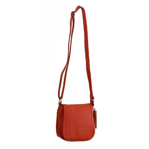 MAHEL Leather Bag A9029-4A Damen Henkeltasche / Baguette Orange