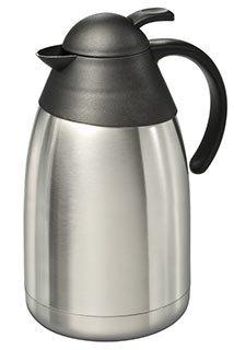 Edelstahl Isolierkanne 2,0 l Edelstahlkanne Thermokanne Kaffee Tee Kanne