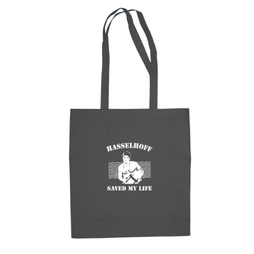 Hasselhoff saved my Life - Stofftasche / Beutel, Farbe: grau