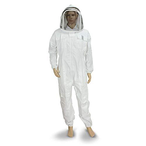 Imker Kostüm Weiße Zaunschleier Maske Schutz vor Bienen Ganzkörper-Sicherheit