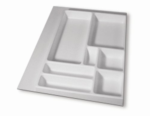 Vance Industries Trimmable Spazzatura cassetto organizzatore, Bianco