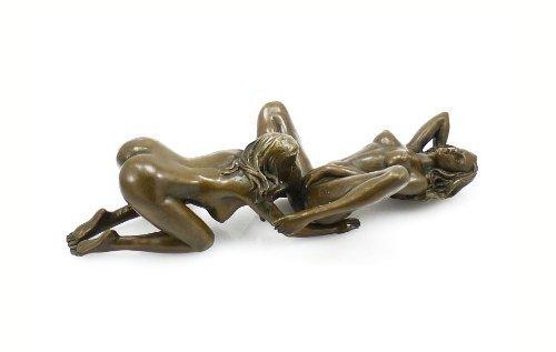 Kunst & Ambiente - Zweiteilige Erotik Bronzefigur - Skulptur - Lesbisches Paar - signiert - 100% Bronze - Sexy Figuren - Heiße Sexy Frauen