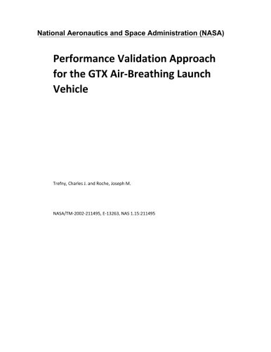 Performance Validation Approach for the GTX Air-Breathing Launch Vehicle (Gtx Air)