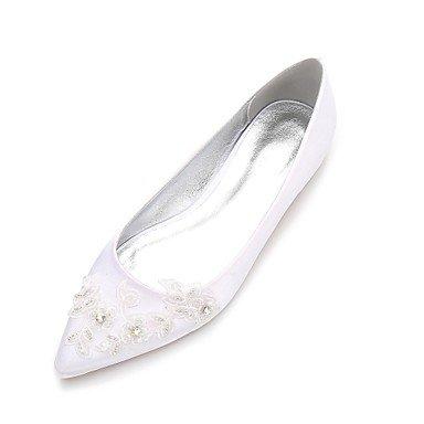 Rtry Chaussures De Mariage Pour Femme Marydorsay & Amp; Satin Comfort Spring Summer Party En Deux Parties Et Amp; Robe De Soirée Strass Heelivory Plat Us7.5 / Eu38 / Uk5.5 / Cn38