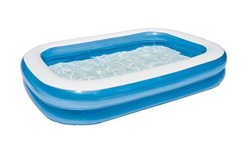 "Bestway 54006  Planschbecken ""Blue Rectangular Family Pool"", 262 x 175 x 51cm"