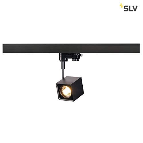 SLV 152320 Altra Dice Spot, angulaire, noir, GU10, max. 50 W, avec 3p.-adapter, en aluminium, Noir,