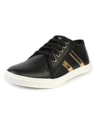 Pede Milan 621 Synthetic Leather Sneakers for Men (7 UK, WhiteGold)
