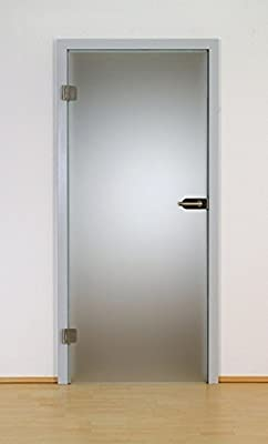 Puerta de cristal de a través de puerta de cristal de hoja de puerta de madera de 8 mm frasco cerrado de satén de vidrio templado de seguridad de 102 - varios modelos