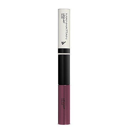 Manhattan Lips2Last Colour&Gloss - Lippenfarbe und Lipgloss in einem - Farbe Burgundy Purple 65N - 1 x 8ml