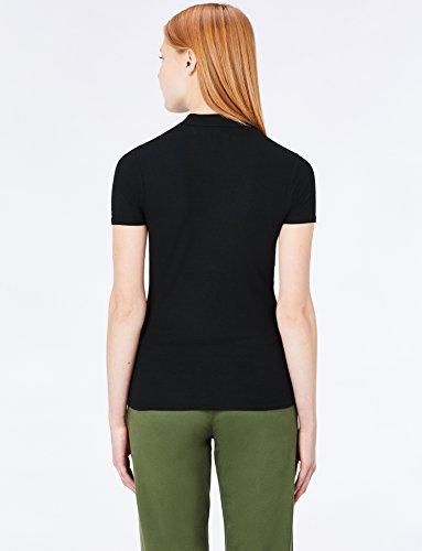MERAKI Damen T-Shirt mit Stehkragen Schwarz (Black)