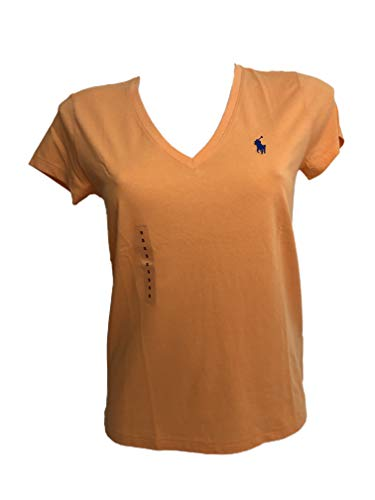 Ralph Lauren Damen T-Shirt Kurzarm, Orange Large