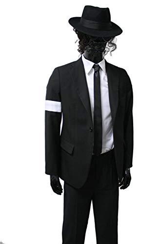 Shuanghao Michael Jackson Space Dance Cos Kid Erwachsene Cosplay Kostüm 6pcs MJ gefährliche Klage Jacke + Hosen + weißes Hemd + Handschuhe + Krawatte + Handschuhe ()