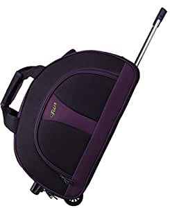 F Gear Cooter Polyester Black Purple Large 55 Liter Travel Duffle bag-24 inch